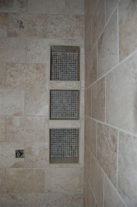 shower shelf custom tile shower cubby shelves for the