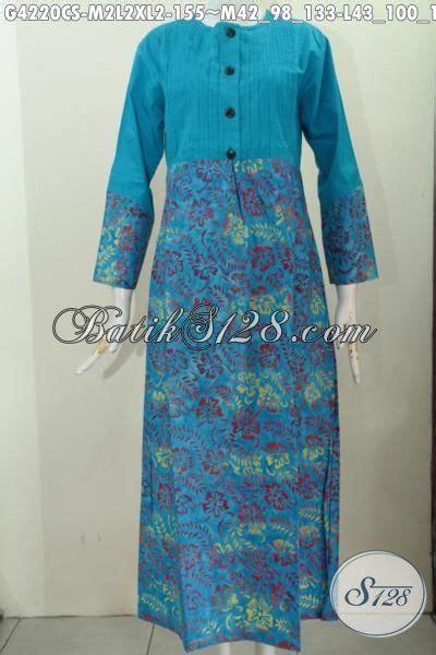 Gamis Batik Anggrek Biru batik gamis biru model terbaru dengan motif unik proses cap smoke produk abaya batik terkini