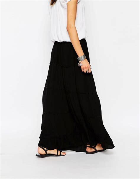 glamorous glamorous tiered maxi skirt at asos