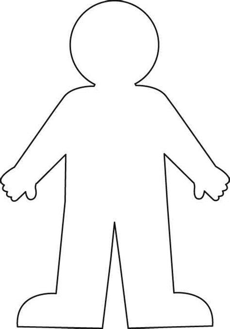 cut out person template template clipart best