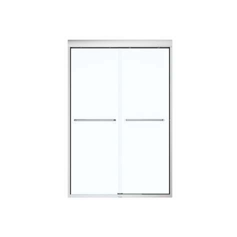 Maax Sliding Shower Doors by Shop Maax 43 In To 47 In Framed Chrome Sliding Shower Door