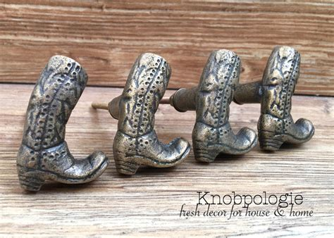 western drawer pulls canada set of 2 cowboy boot iron knobs cowgirl boots
