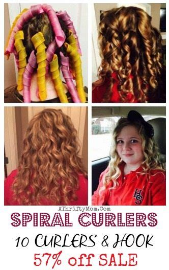 how to hook sprial hair spiral curlers set of 10 with hook