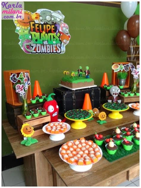 Plants Vs Zombies Birthday Decorations by Plants Vs Zombies Themed Birthday Via Kara S