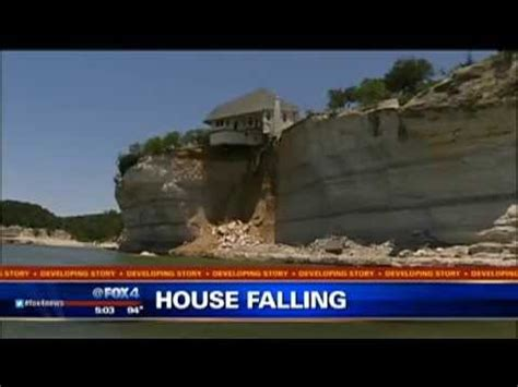 houses falling off cliffs hill county house falling off cliff youtube