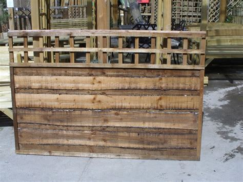 6 Foot Wide Trellis Heavy Duty Waneylap Panels With Trellis Top Pressure Treated
