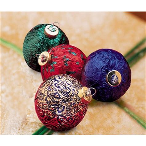 edible ornaments for christmas chocolate case of 28
