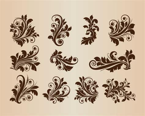 antique design collection of vector vintage floral design ornament