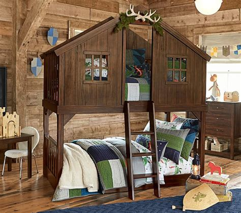 rustic handmade tree house bunk bed solid wood by rusticdeals
