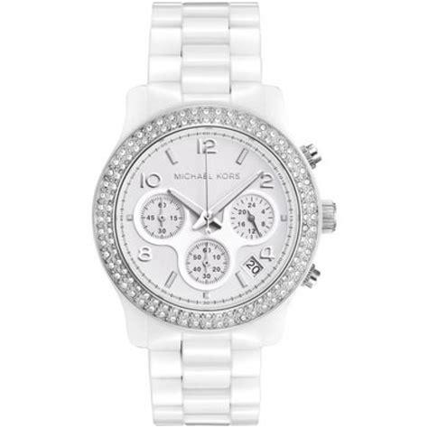 Michael Kors Runway Silver Women's Mk5188 Ceramic Watch