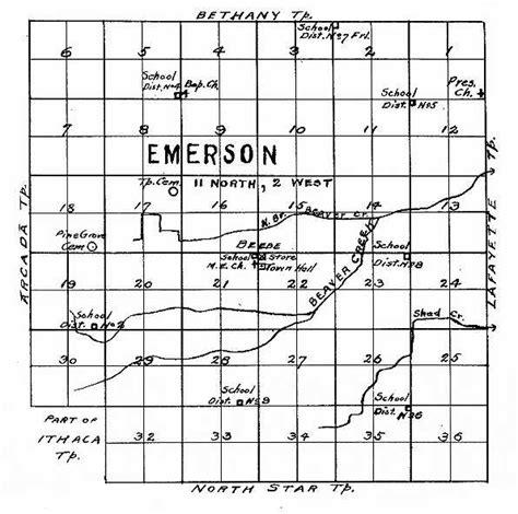 Gratiot County Records Gratiot Co Mi Usgenweb Emerson Township