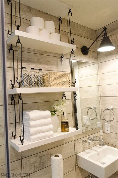 shelving ideas for small bathrooms 44 best small bathroom storage ideas and tips for 2018