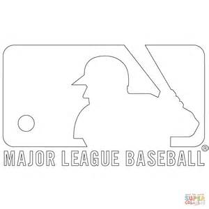 Mlb Logo Coloring Pages mlb logo coloring page free printable coloring pages