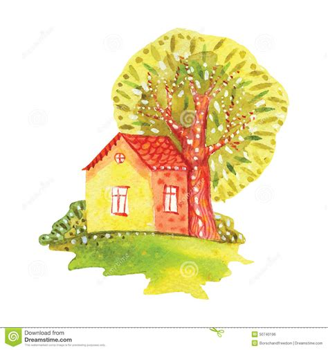 watercolor house painting watercolor home pinterest watercolor house stock illustration illustration of
