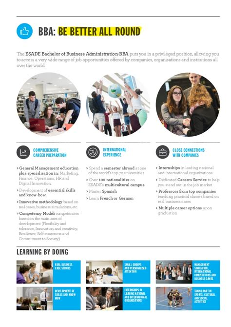 Esade Mba Brochure by Brochure Esade Bachelor Of Business Administration Bba