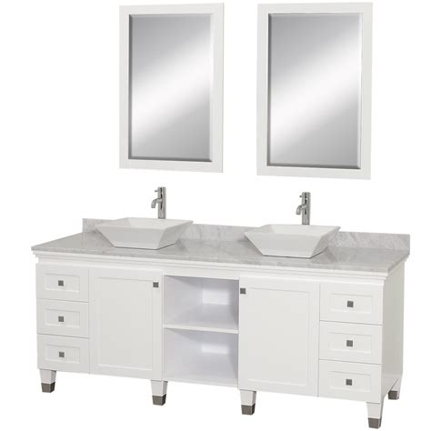 Bathroom With White Vanity 72 Quot Premiere 72 White Bathroom Vanity Bathroom Vanities Bath Kitchen And Beyond