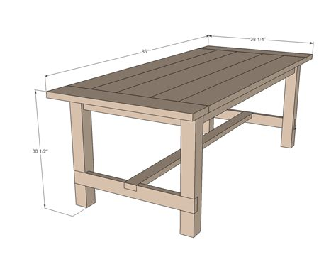 farmhouse table updated pocket hole plans ana white
