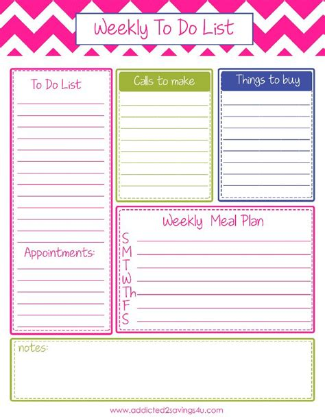 printable organizer pinterest weekly to do list planner printable todolist organizated
