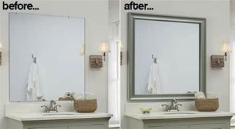 Bathroom Mirror With Frame Bathroom Mirror Frames 2 Easy To Install Sources A Diy Tutorial Retro Renovation