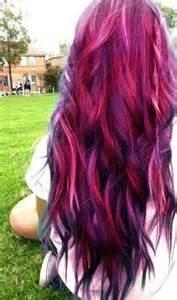 reddish purple hair color pink purple black hair color hair ideas