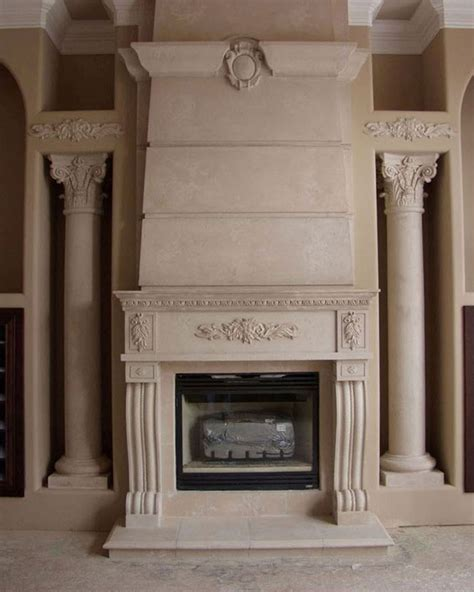 cast concrete fireplace home with cast fireplace surround