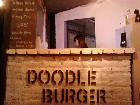 doodle nama rama doodle burger manisnya donat dan gurihnya sapi dalam