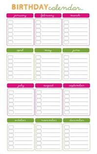 Printable Birthday Calendar Template birthday calendar 43 calendar template free premium