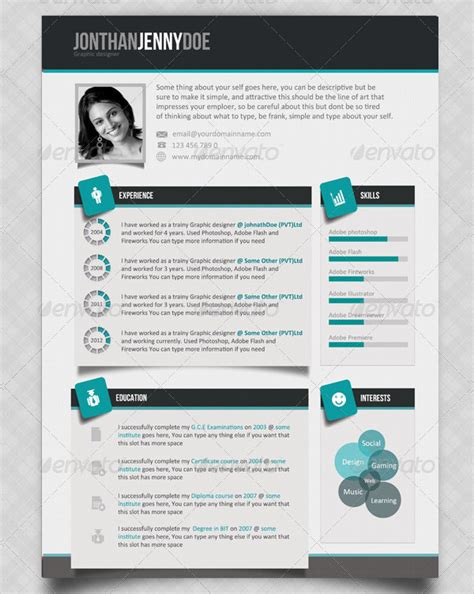 Cascade One Page Resume Template 13 Images 35 Premium