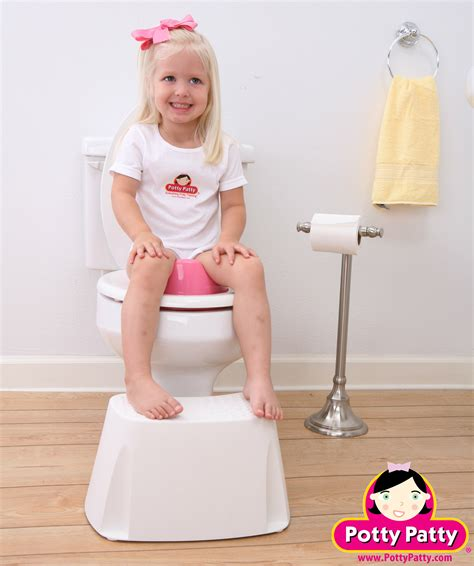girl on toilet potty training toilet seat ii by potty patty potty patty