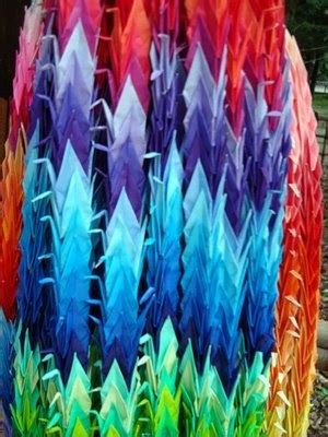 History Of Origami Cranes - 1000 images about rainbows color on the