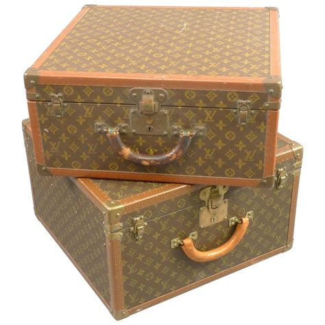 Louis Vuitton Furniture by Unmatched Set Of Vintage Louis Vuitton Suitcases Leather