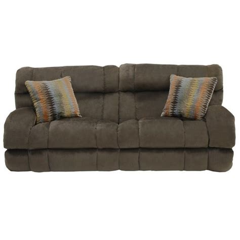 catnapper siesta lay flat reclining fabric sofa in