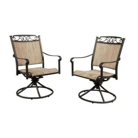 swivel patio dining chairs hton bay santa swivel rocker patio dining chair 2 pack discontinued s2 adq10801 the