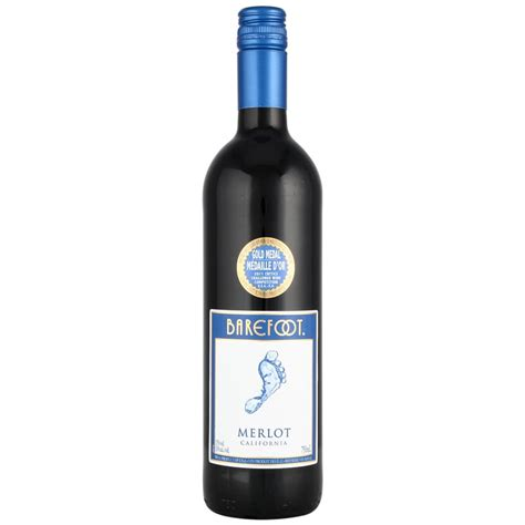 barefoot merlot california red wine cl wine bm
