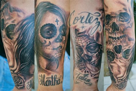 day of the dead tattoo sleeve el dugi lewis skin tattoos page 1