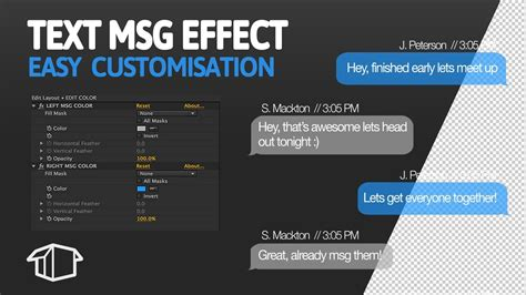 After Effects Easy Text Message Animation Template Youtube Text Message After Effects Template