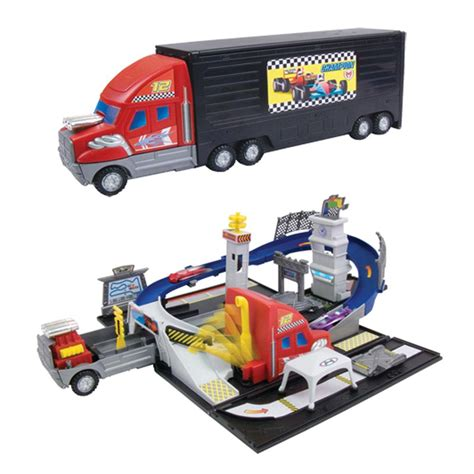 truck race track toys transforming truck playset race track transformer