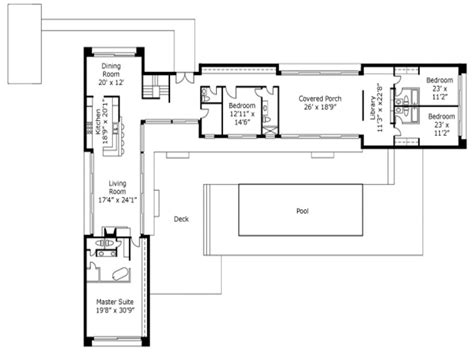 L Shaped Home Plans by Awesome L Shaped House Plans Home Design Image Simple