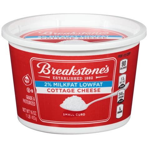 4 cottage cheese nutrition breakstone s cottage cheese 2 milkfat lowfat small curd