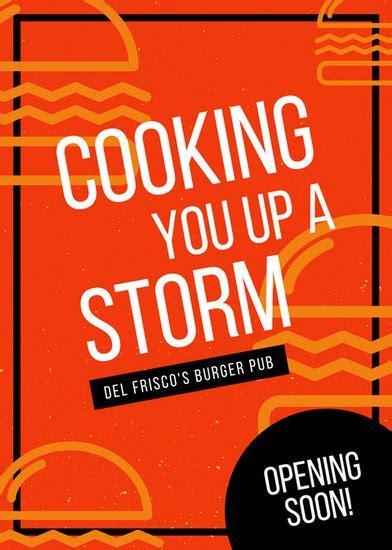 Open Plan House Customize 77 Restaurant Flyer Templates Online Canva