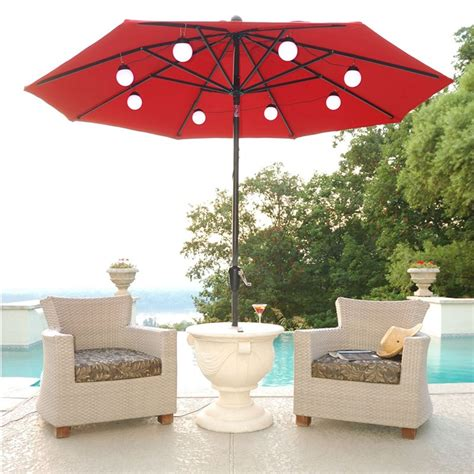 Lighted Umbrella For Patio Lighted Patio Umbrella Providing An Amusing Nuance Homesfeed