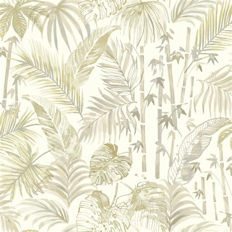 nature pattern wall paper holden decor jungle leaf pattern rain forest metallic