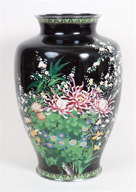Cloisonne Enamel Vase by Japanese Cloisonne Enamel Vase