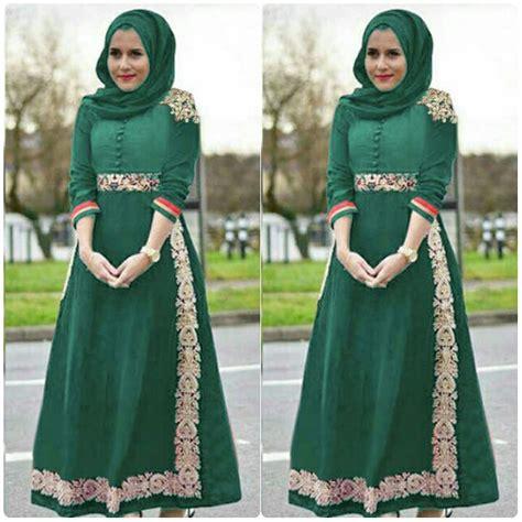 Baju Gamis Bahan Katun baju gamis pesta bahan katun bordir terbaru manole warna hijau tosca baju gamis terbaru
