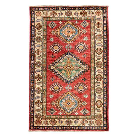 3 x 4 rugs darya rugs kazak 3 ft 4 in x 5 ft indoor area rug m1760 139 the home depot