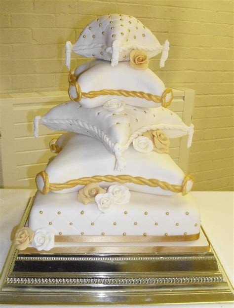 Wedding Cake Your Pillow by 5 Tier Pillow Cake Cakecentral