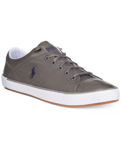 polo sneakers lyst polo ralph jerom sneakers in gray for