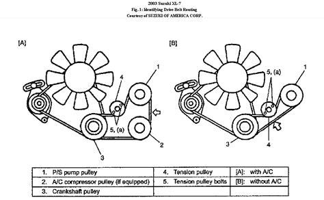 2004 suzuki xl7 belt diagram repair wiring scheme