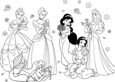 free coloring pages of disney pridisney princess