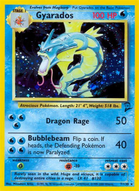 Card Original Gyarados Hologram Pre Release gyarados base set 2 b2 7